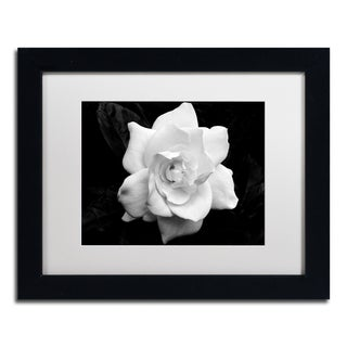 Kurt Shaffer 'Gardenia in Black and White' Matted Framed Art