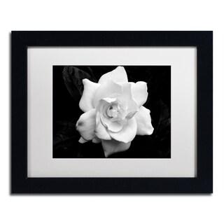 Kurt Shaffer 'Gardenia in Black and White' Matted Framed Art