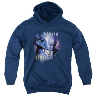 Farscape/Zhaan Youth Pull-Over Hoodie in Navy