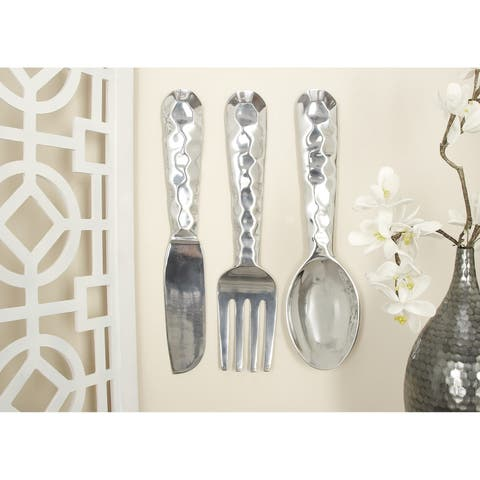 26169 Cutlery Wall Decor - Aluminum Utensil Set of 3
