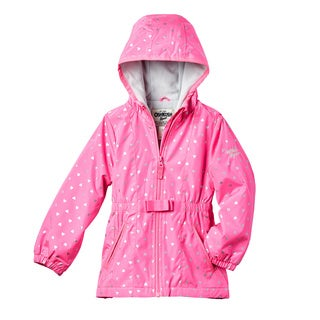 OSHKOSH Girls' Heart Print Lightweight Jacket