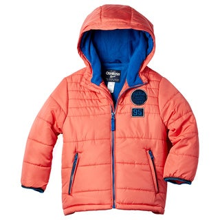OshKosh Boy's Silver/Navy/Orange Polyester Jacket