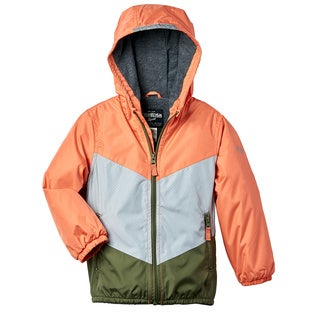 OSHKOSH Toddler Boys' Orange Fleece Lined Coat