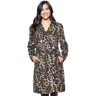 Ellen Tracy Women's Leopard Wrap Coat