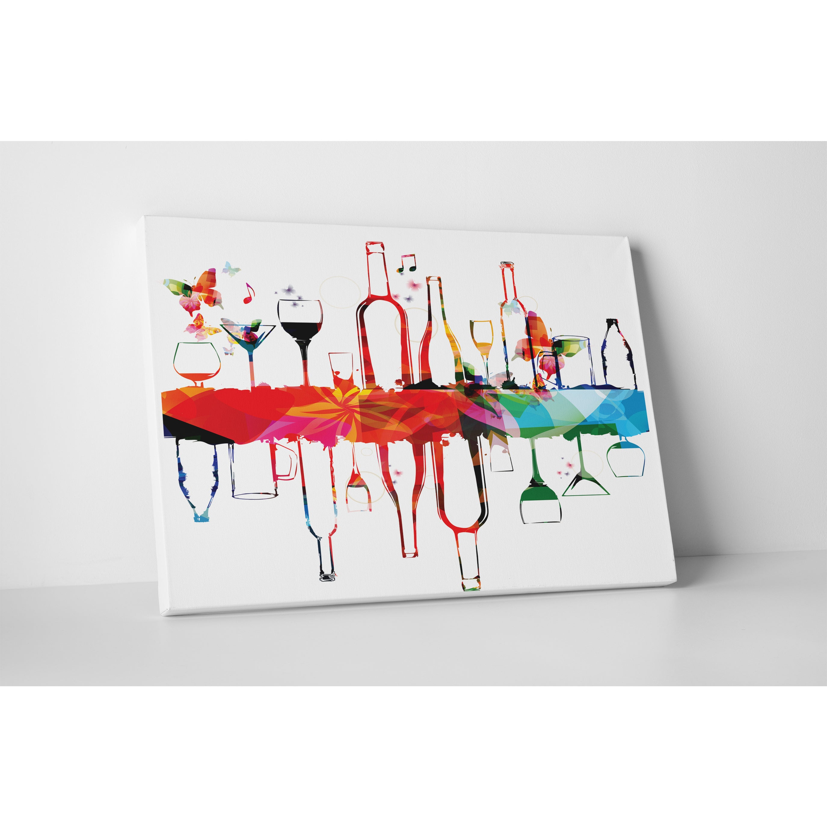 Shop Kitchen Art Alcohol Glasses Folded And Flipped Gallery