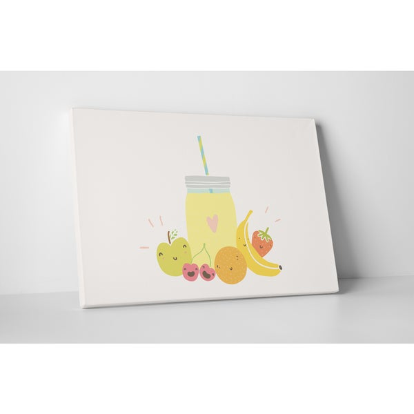Kitchen Art 'Fruit Juice' Gallery Wrapped Canvas Wall Art