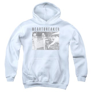 Elvis/Heartbreaker Youth Pull-Over Hoodie in White