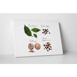 Kitchen Art 'Herbs and Spices' Gallery Wrapped Canvas Wall Art