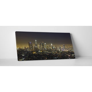 City Skylines 'Los Angeles' Gallery Wrapped Canvas Wall Art