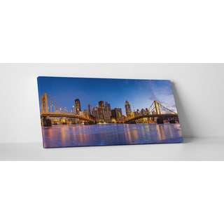 City Skylines 'Pittsburgh' Gallery Wrapped Canvas Wall Art