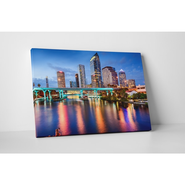 City Skylines 'Tampa' Gallery Wrapped Canvas Wall Art