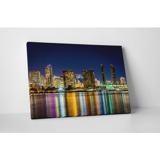 City Skylines 'San Diego' Gallery Wrapped Canvas Wall Art