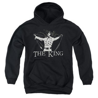 Elvis Youth Ornate King Black Cotton/Polyester Pullover Hoodie