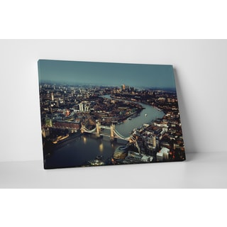 City Skylines 'London' Gallery Wrapped Canvas Wall Art