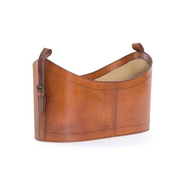 Shop Leather Magazine Holder Free Shipping Today Overstock Unique Orange Magazine Holder
