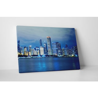 City Skylines 'Chicago Along Lake Shore Drive' Gallery Wrapped Canvas Wall Art
