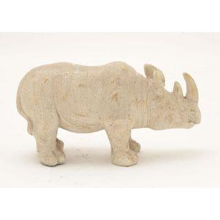 Unique Ceramic White/Gold Rhino