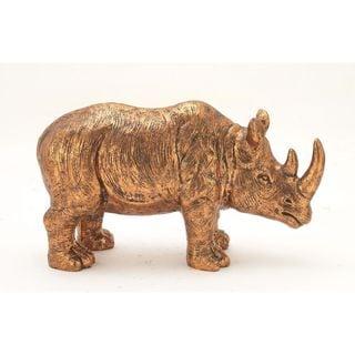 Ceramic Bronze Rhino