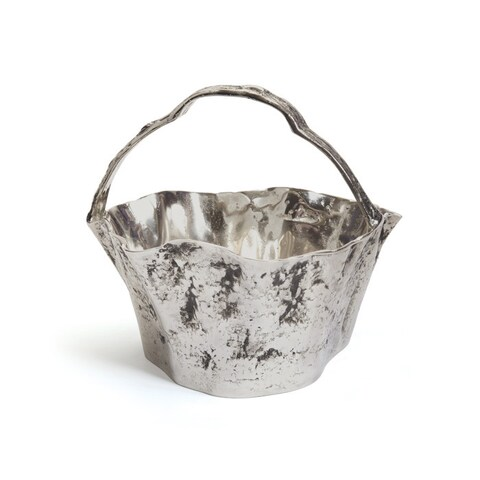 Hammered Nickel Basket