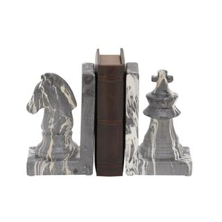Stylish Ceramic Marble Finish Bookend
