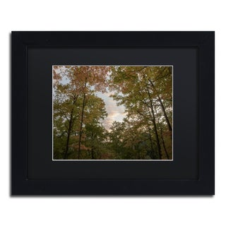 Kurt Shaffer 'Autumn Window to a Sunset' Matted Framed Art