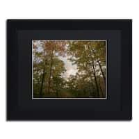 Kurt Shaffer 'Autumn Window to a Sunset' Matted Framed Art