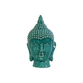 Religious & Spiritual Ceramic Buddha Head In Blue