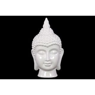 Religious & Spiritual Ceramic Buddha Head In White