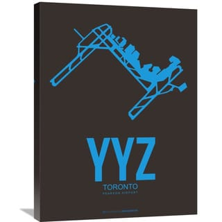 Naxart Studio 'YYZ Toronto Poster 1' Stretched Canvas Wall Art