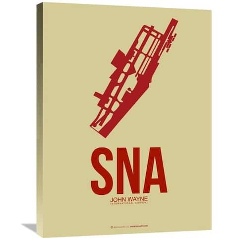 Naxart Studio 'SNA John Wayne Poster 2' Stretched Canvas Wall Art
