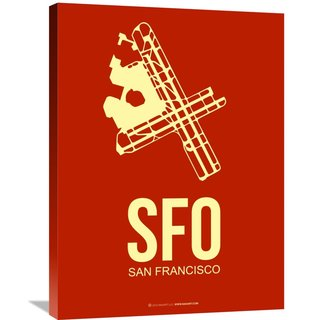 Naxart Studio 'SFO San Francisco Poster 2' Stretched Canvas Wall Art