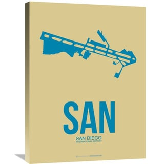 Naxart Studio 'SAN San Diego Poster 3' Stretched Canvas Wall Art