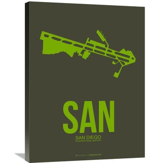 Naxart Studio 'SAN San Diego Poster 2' Stretched Canvas Wall Art