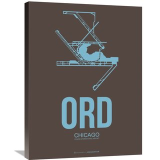 Naxart Studio 'ORD Chicago Poster 2' Stretched Canvas Wall Art
