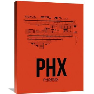 Naxart Studio 'PHX Phoenix Airport Orange' Stretched Canvas Wall Art