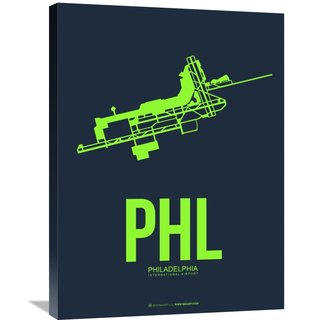 Naxart Studio 'PHL Philadelphia Poster 3' Stretched Canvas Wall Art