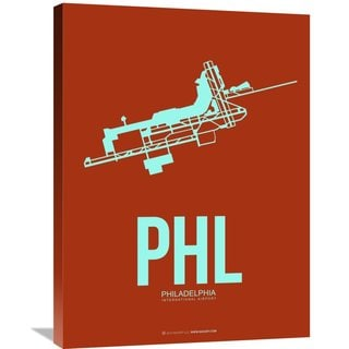 Naxart Studio 'PHL Philadelphia Poster 2' Stretched Canvas Wall Art