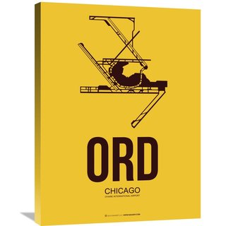 Naxart Studio 'ORD Chicago Poster 1' Stretched Canvas Wall Art