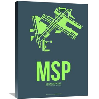 Naxart Studio 'MSP Minneapolis Poster 2' Stretched Canvas Wall Art