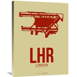 Naxart Studio 'LHR London Poster 1' Stretched Canvas Wall Art