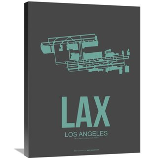 Naxart Studio 'LAX Los Angeles Poster 2' Stretched Canvas Wall Art