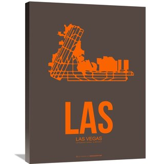 Naxart Studio 'LAS Las Vegas Poster 1' Stretched Canvas Wall Art