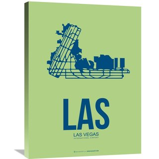 Naxart Studio 'LAS Las Vegas Poster 2' Stretched Canvas Wall Art