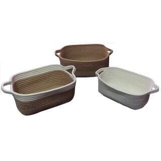Set Of 3 Jute Baskets