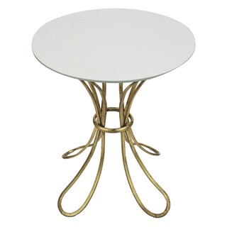 17 x 18.5-inch Antique Finish Metal Accent Table