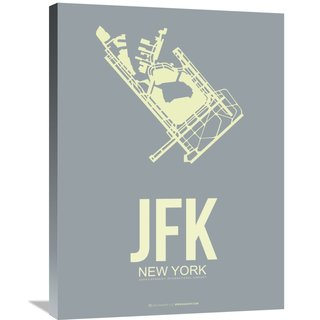 Naxart Studio 'JFK New York Poster 1' Stretched Canvas Wall Art