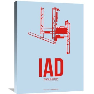 Naxart Studio 'IAD Washington Poster 2' Stretched Canvas Wall Art