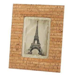 Brown Wood 8.5-inch x 11-inch Cork Photo Frame