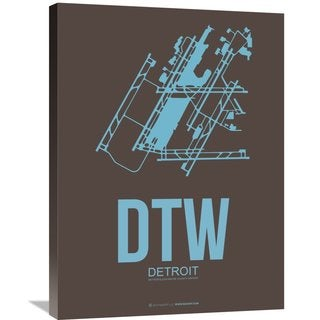Naxart Studio 'DTW Detroit Poster 1' Stretched Canvas Wall Art