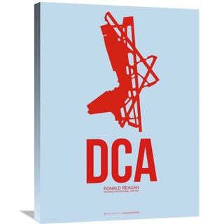 Naxart Studio 'DCA Washington Poster 2' Stretched Canvas Wall Art